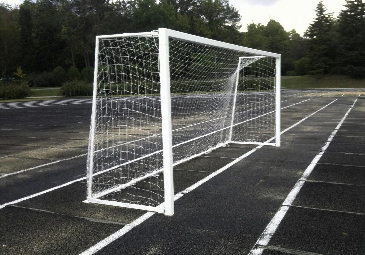 Футбольные алюминиевые ворота - фото