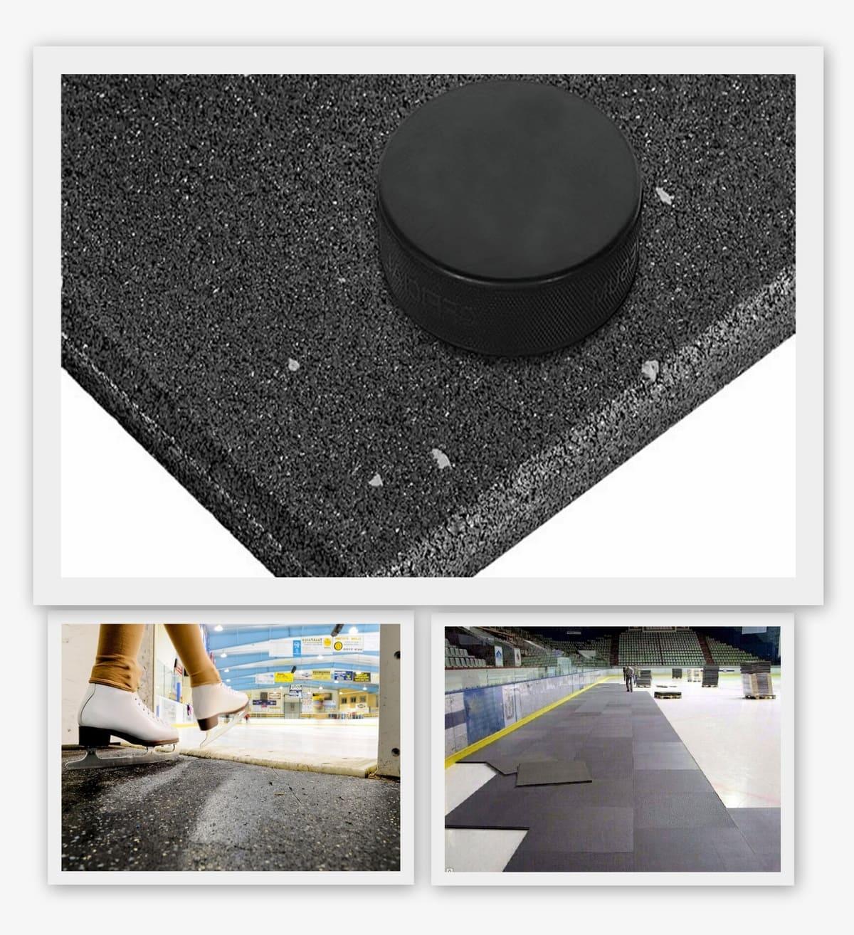 Резиновая покрытие 1000x1000x10мм для холодных помещений - Rubblex Ice