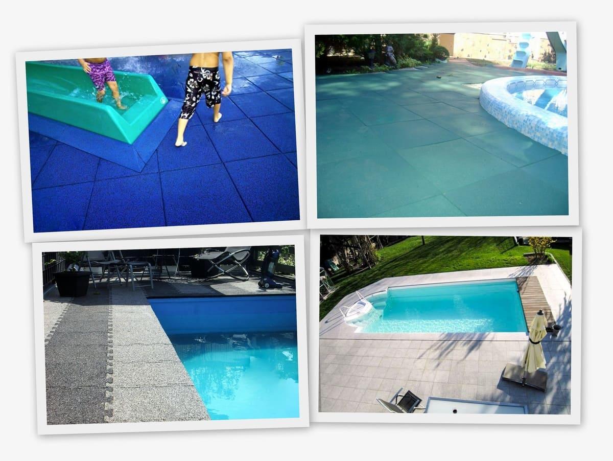 Резиновое покрытие 1000x1000x20мм для бассейнов - Rubblex Pool