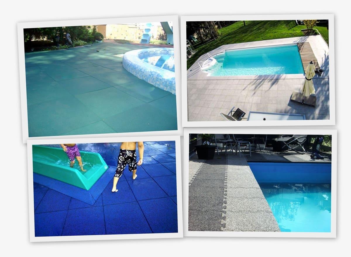 Резиновое покрытие 500x500x20мм, комплект - Rubblex Pool фото