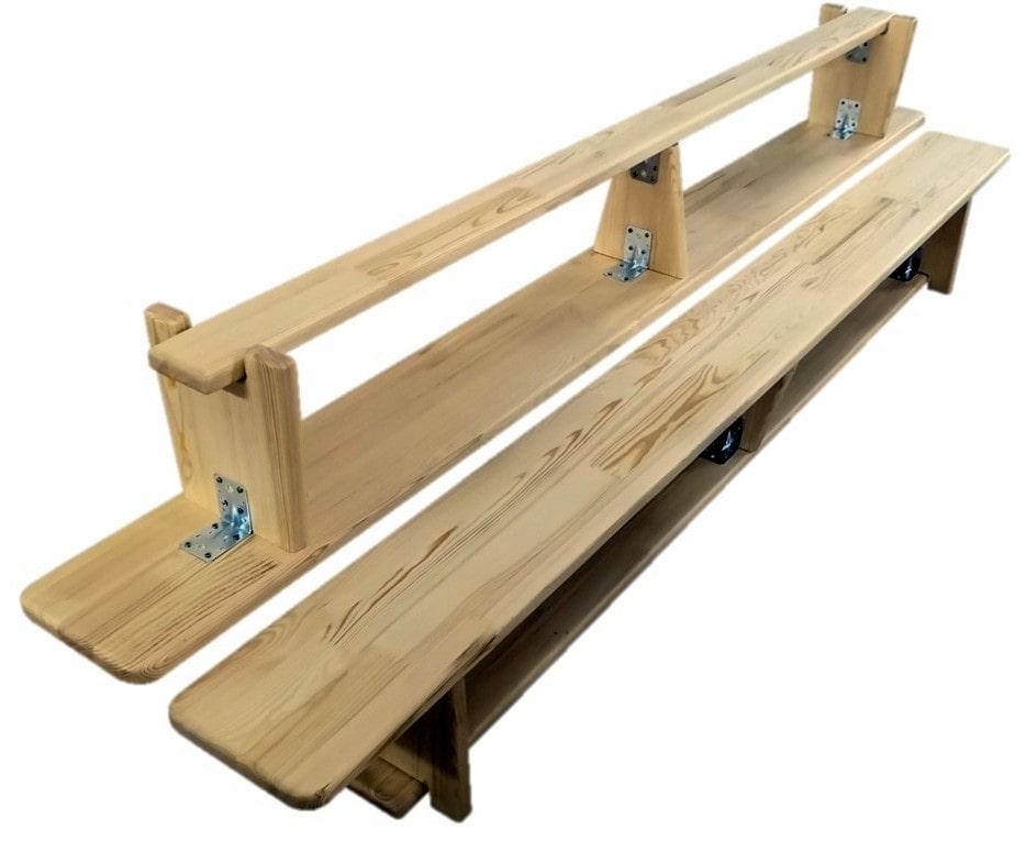 Скамьи с деревянными ножками фото