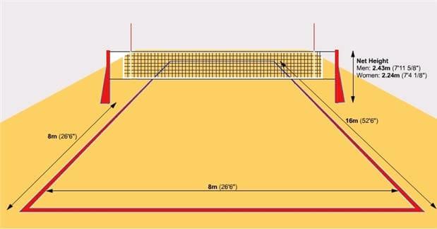 Разметка площадки волейбол фото
