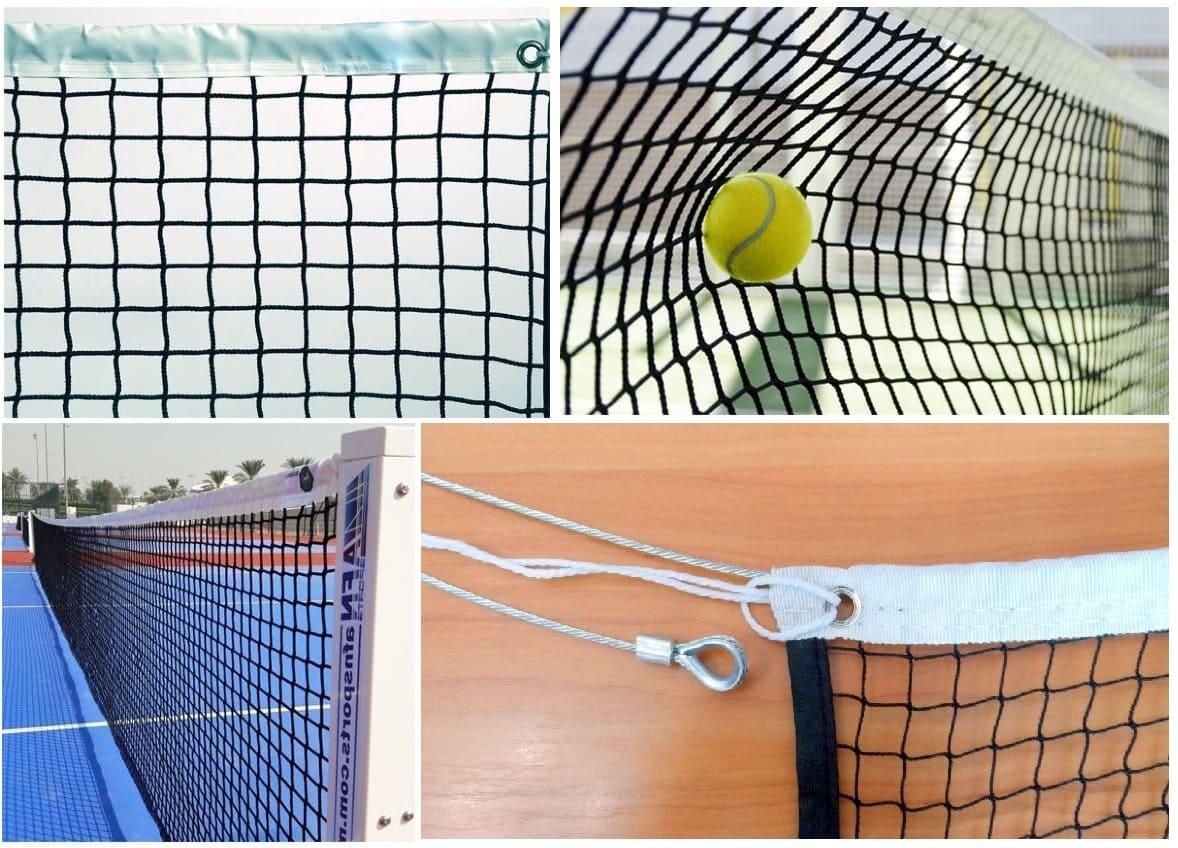 Сетка для большого тенниса D=4,0мм с тросом фото