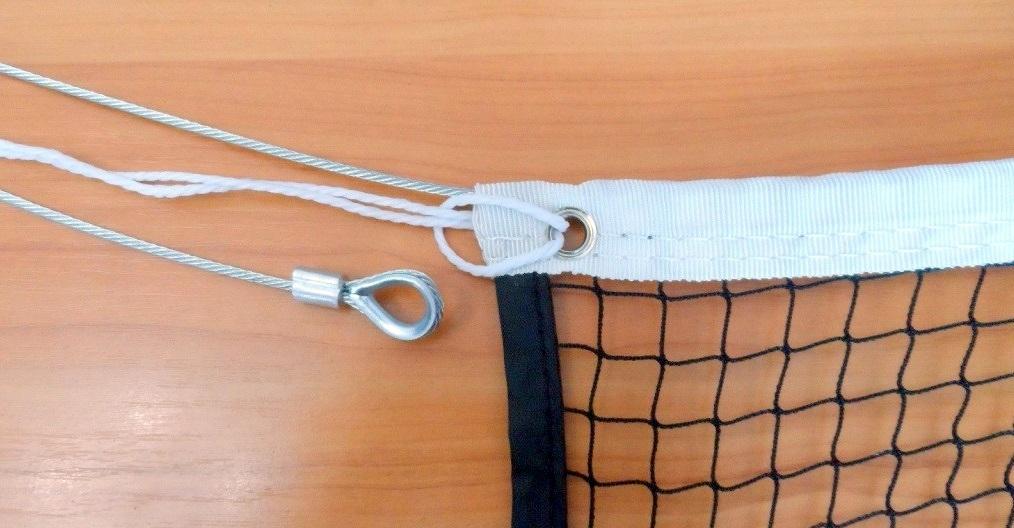 Сетка для большого тенниса D=3,0мм с металлическим тросом фото