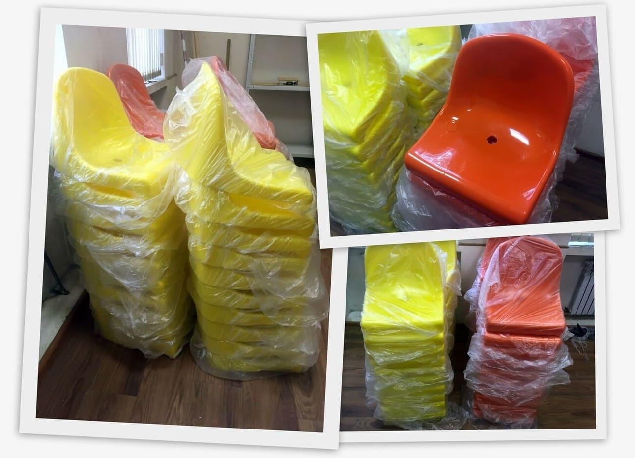 Кресло пластиковое стадионное в наличии