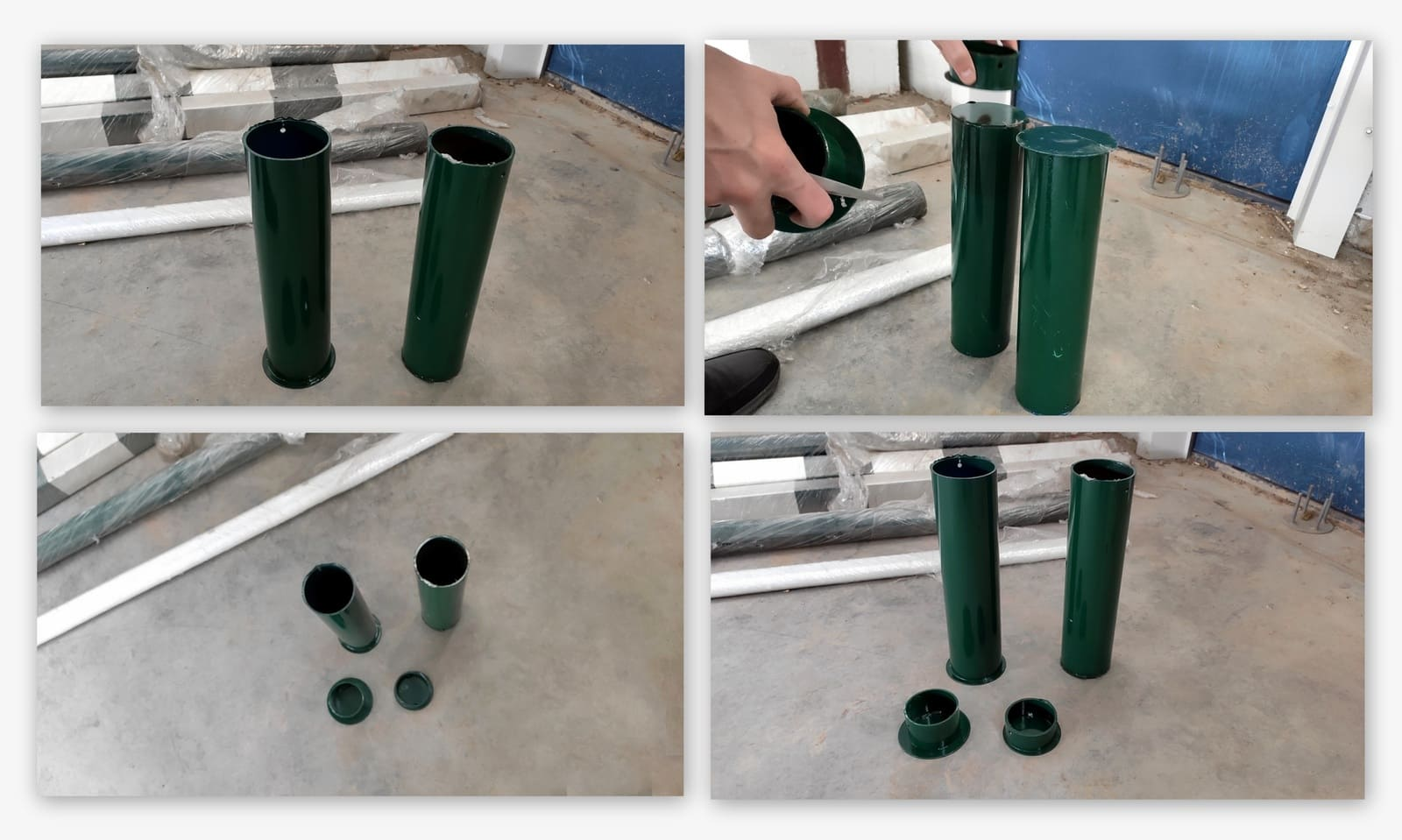 Стаканы для волейбольных стоек 350 мм, (пара)