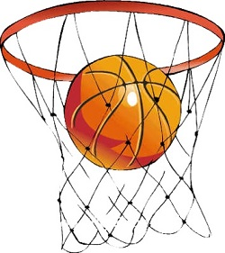 Кольцо и сетка для баскетбола