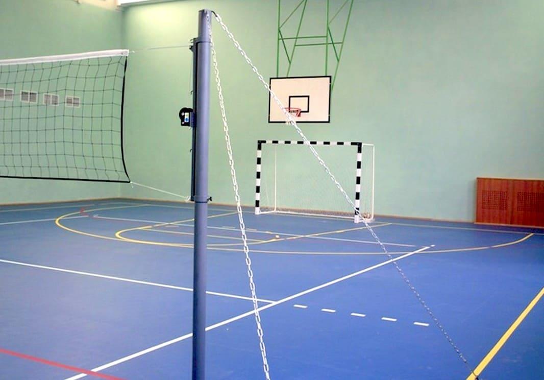 фото - Стойки волейбольные на растяжках
